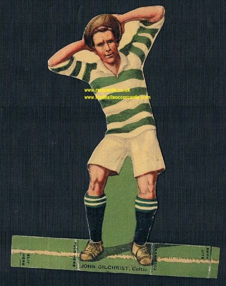 1923 Rover stand-up Celtic John Gilchrist football All Star Team Britain Select XI